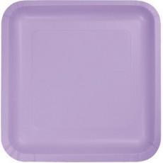 Lavender Party Supplies - Dinner Plates Luscious Lavender Square