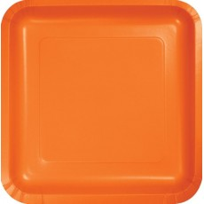 Orange Sunkissed Paper Dinner Plates