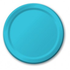 Round Bermuda Blue Paper Dinner Plates 23cm Pack of 24