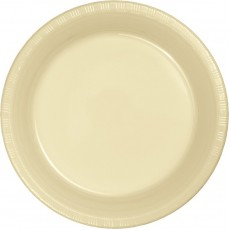Ivory Party Supplies - Dinner Plates Paper Round