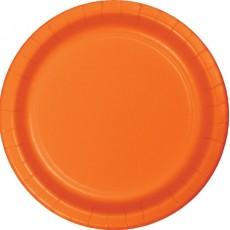 Round Sunkissed Orange Paper Dinner Plates 23cm Pack of 24