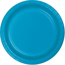 Blue Turquoise Paper Dinner Plates