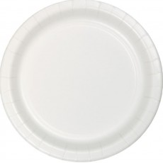 Round White Paper Banquet Plates 26cm Pack of 24