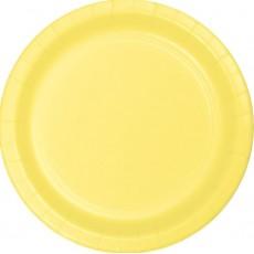 Yellow Mimosa Paper Banquet Plates