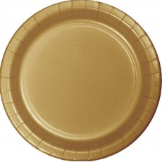 Round Glittering Gold Banquet Plates 26cm Pack of 24