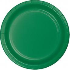 Green Emerald Paper Banquet Plates