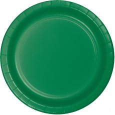 Round Emerald Green Paper Banquet Plates 26cm Pack of 24
