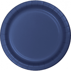 Round Navy Blue Banquet Plates 26cm Pack of 24