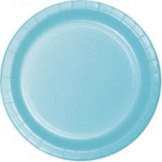 Round Pastel Blue Paper Banquet Plates 26cm Pack of 24