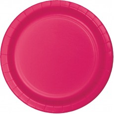 Hot Magenta Paper Banquet Plates 26cm Pack of 24