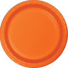 Orange Sunkissed Paper Banquet Plates