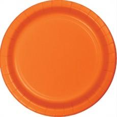 Round Sunkissed Orange Paper Banquet Plates 26cm Pack of 24