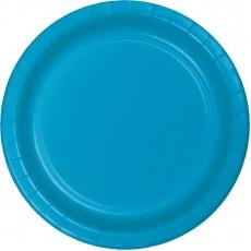 Blue Turquoise Paper Banquet Plates
