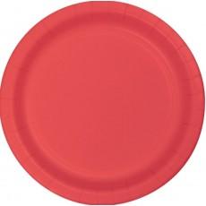 Coral Paper Banquet Plates