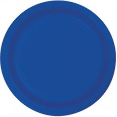Round Cobalt Blue Paper Banquet Plates 26cm Pack of 24