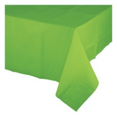 Green Fresh Lime Celebrations Plastic Table Cover