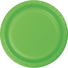 Green Fresh Lime Celebration Paper Lunch Plates