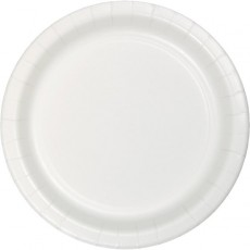 White Celebrations Paper Lunch Plates