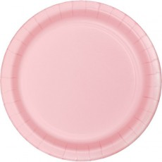 Pink Classic Celebrations Paper Lunch Plates