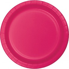 Magenta Hot Celebrations Paper Lunch Plates