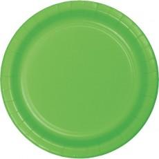 Green Fresh Lime Celebration Paper Dinner Plates