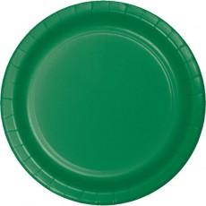 Green Emerald Celebration Paper Dinner Plates