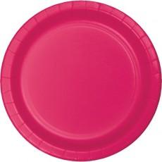 Magenta Hot Celebrations Paper Dinner Plates