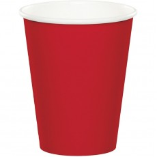 Classic Red Hot & Cold Paper Cups 266ml Pack of 24