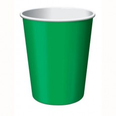 Emerald Green Paper Cups 266ml Pack of 24