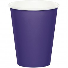 Purple Hot & Cold Paper Cups