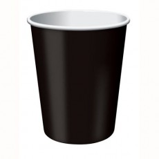 Black Velvet Hot & Cold Paper Cups 266ml Pack of 24