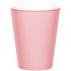 Classic Pink Hot & Cold Paper Cups 266ml Pack of 24