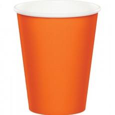 Orange Sunkissed  Paper Cups