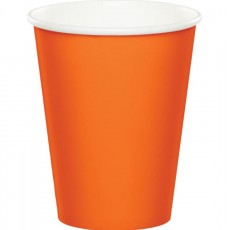 Sunkissed Orange Paper Cups 266ml Pack of 24