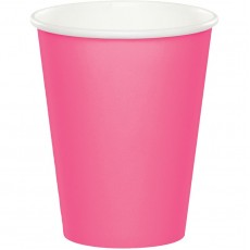 Candy Pink Hot & Cold Paper Cups 266ml Pack of 24