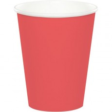 Coral Party Supplies - Paper Cups