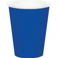 Cobalt Blue Hot & Cold Paper Cups 266ml Pack of 24