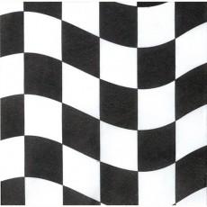 Black & White Check Beverage Napkins Pack of 18