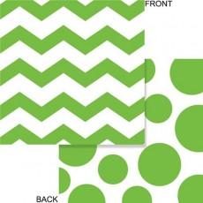Chevron Design Fresh Lime Celebrations & Dots Beverage Napkins