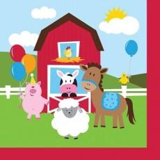 Farmhouse Fun Party Supplies - Beverage Napkins