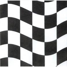 Black & White Check Lunch Napkins Pack of 18