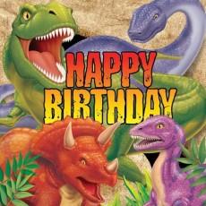 Dinosaur Dino Blast Happy Birthday Lunch Napkins Pack of 16