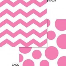 Chevron Design Candy Pink Celebrations & Dots Lunch Napkins