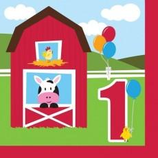 Farmhouse Fun Party Supplies - Lunch Napkins 1st Birthday