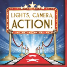 Hollywood Lights! Camera! Action! Lunch Napkins