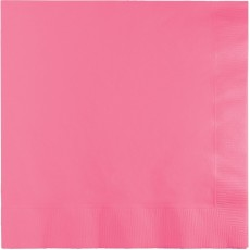 Candy Pink Lunch Napkins 33cm x 33cm Pack of 50