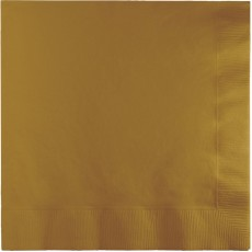 Glittering Gold Lunch Napkins 33cm x 33cm Pack of 50