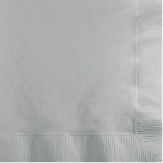 Square Shimmering Silver Lunch Napkins 33cm x 33cm Pack of 50