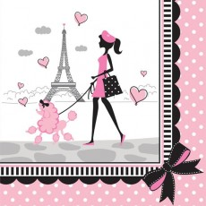 Party in Paris Lunch Napkins Pack of 18
