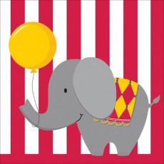 Boy Circus Time Lunch Napkins